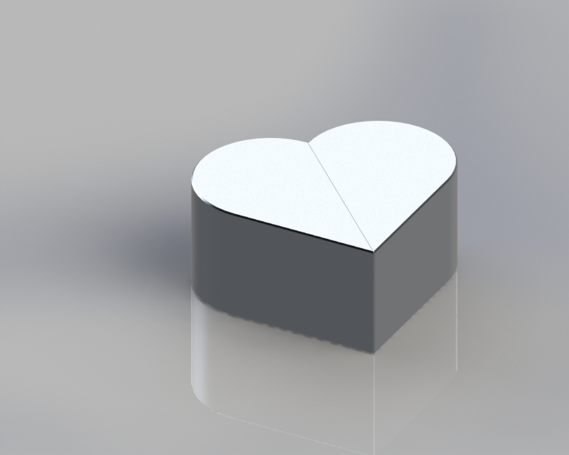 Heart configuration. Magnets are attracted to each other, so the configuration is stable.
