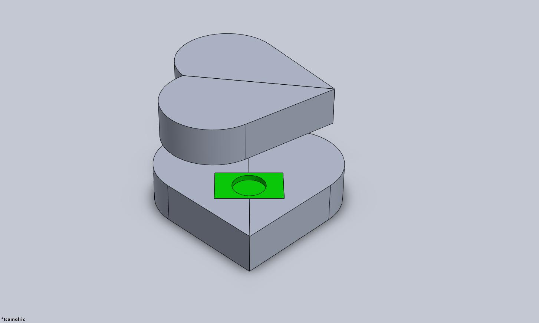 Heart configuration: green barrel visible.