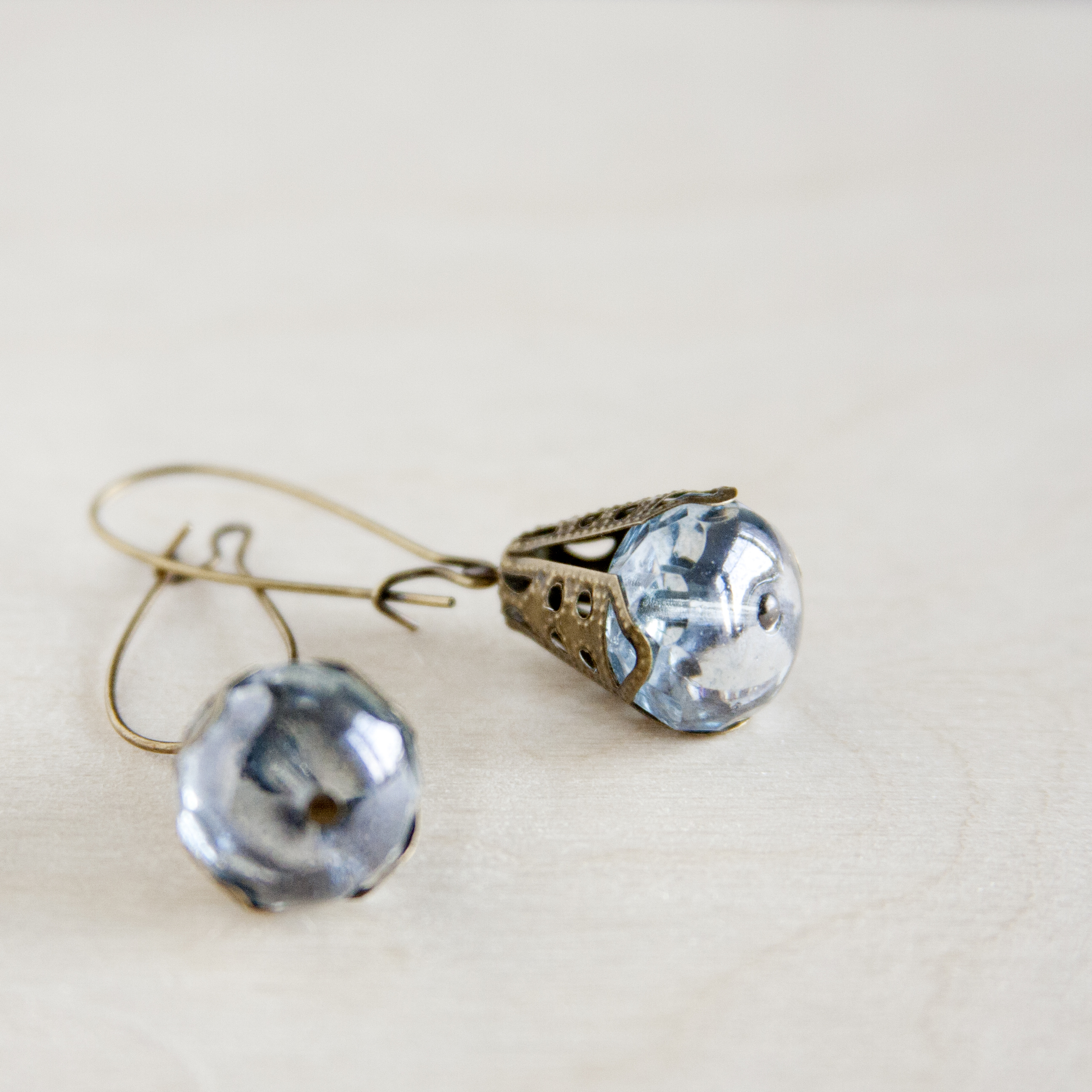 BAC for Renee antique brass and blue green bead earring  1.jpg