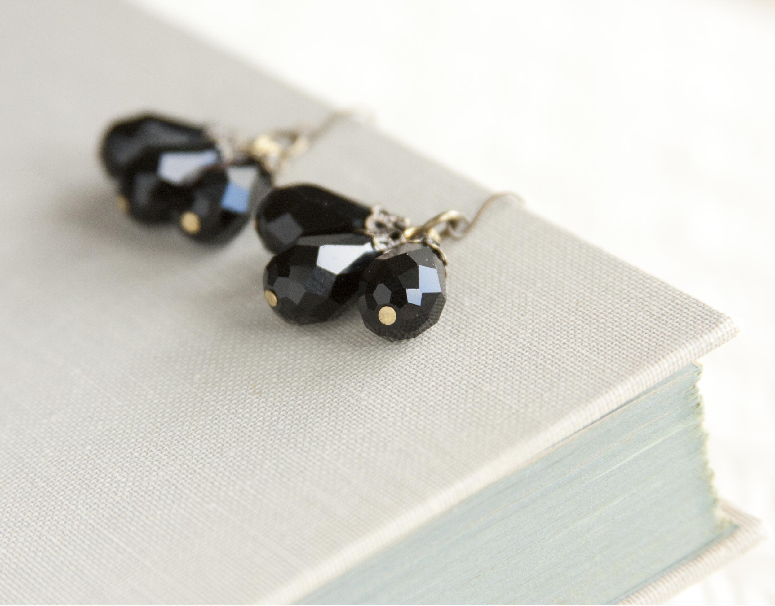 BAC for Renee Black Crystal 3 drops Earrings1.jpg