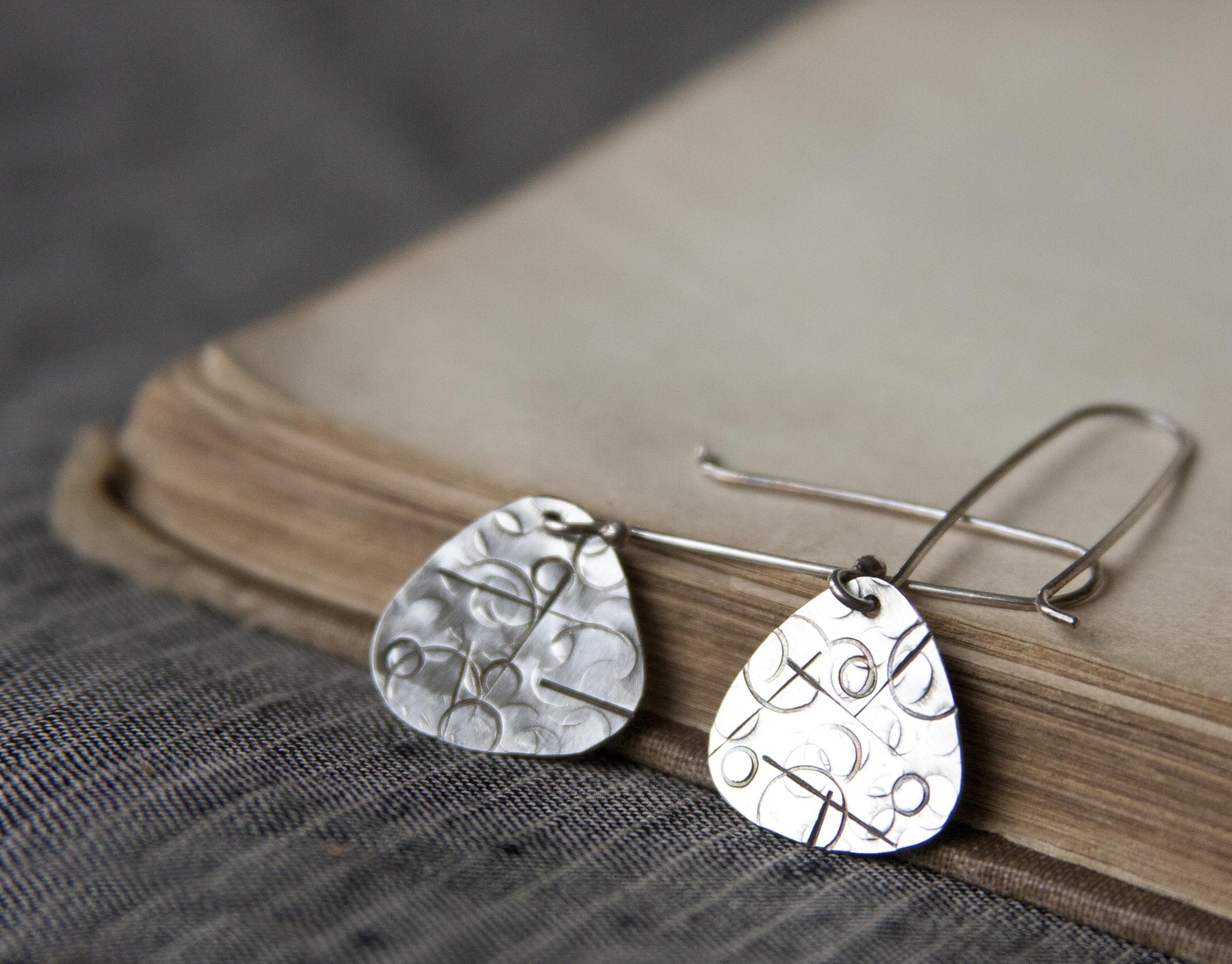 BAC for Charlene Seiver Hammered Soft Triangle Earrings 3.jpg