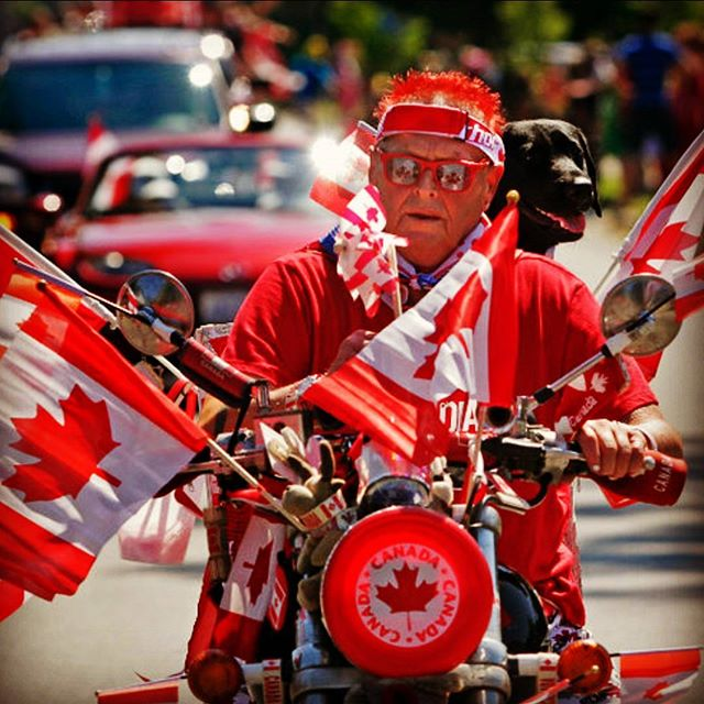 Oh Canada.  #motorcycles #canada #canadian #flag #moto #ride #red #awesome #pic