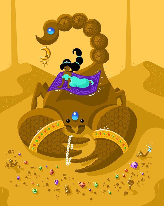Disney | Scorpio ♏️ I saw the new Aladdin movie last night, and it has some serious Scorpio vibes. (@nasimpedrad as Jasmine's handmaiden? Wild.)