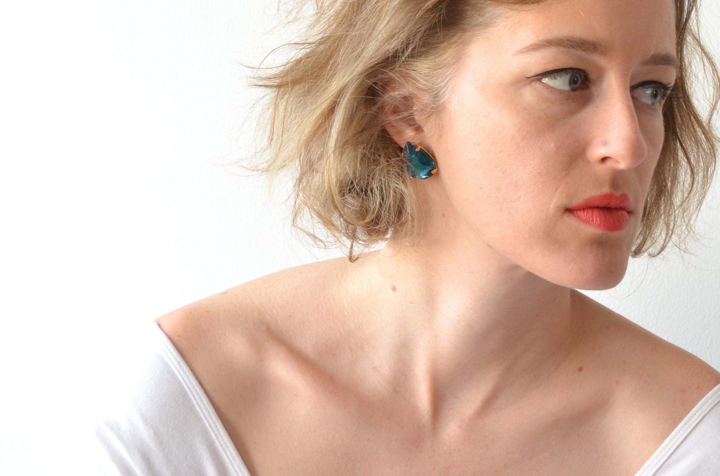 turqoise raindrop earrings