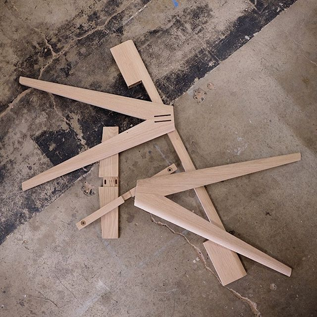 Parts to a whole. • Crest Desk in the making.