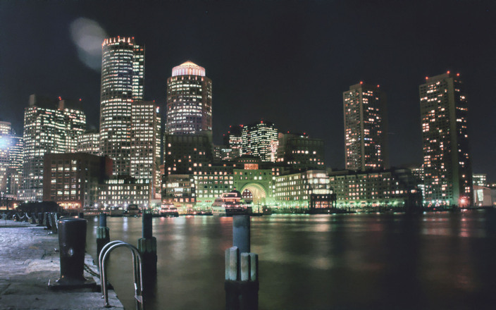 Boston Harbor at Nights