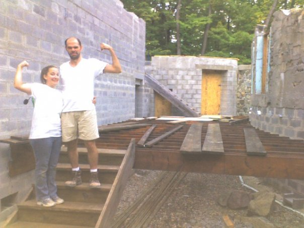 Denise Cardarelli & Patrick Toon - a day of construction successfully concluded.