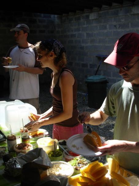 Jeff Bender, Jenn Cribbs, Neil Ginsberg. Lunchtime.