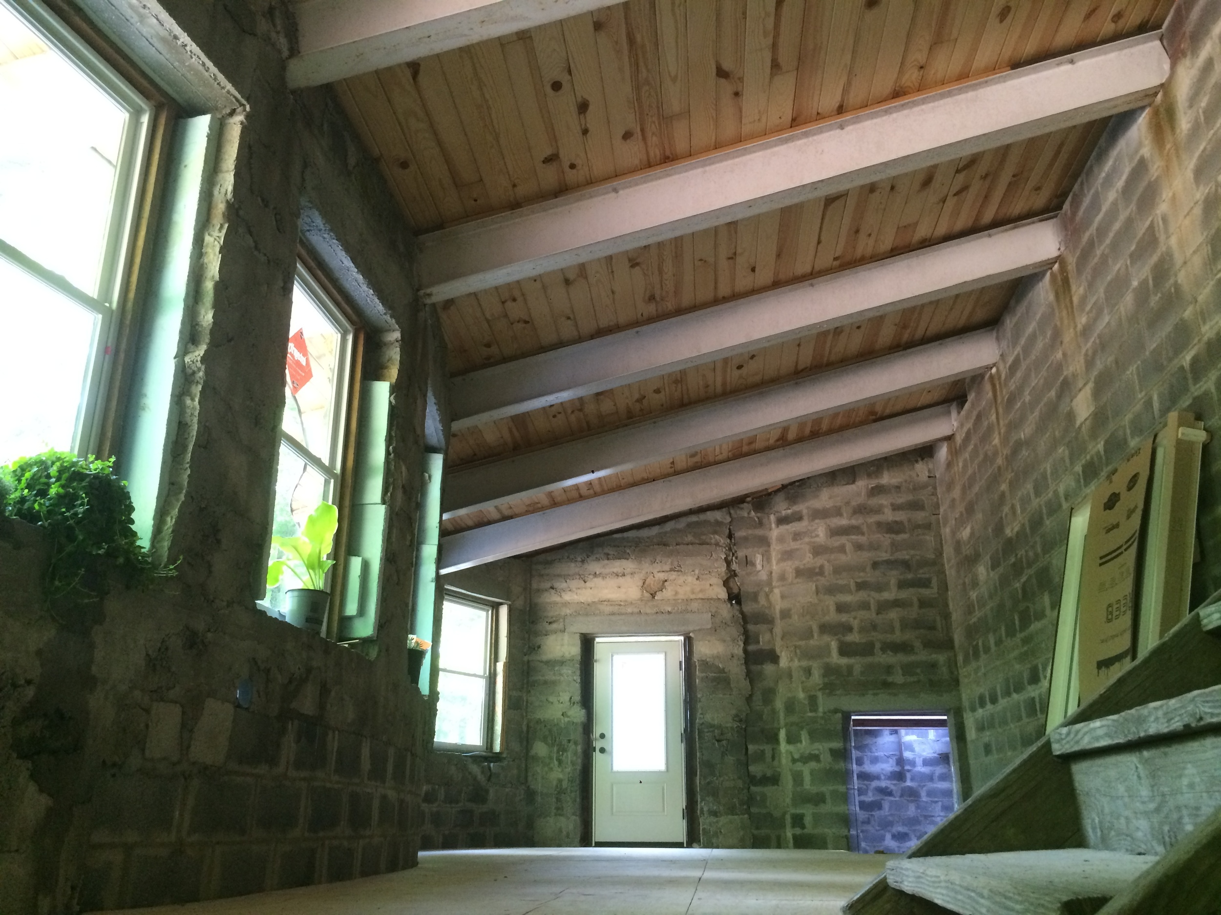Underhill's kitchen level. Subfloor installed May 2016.