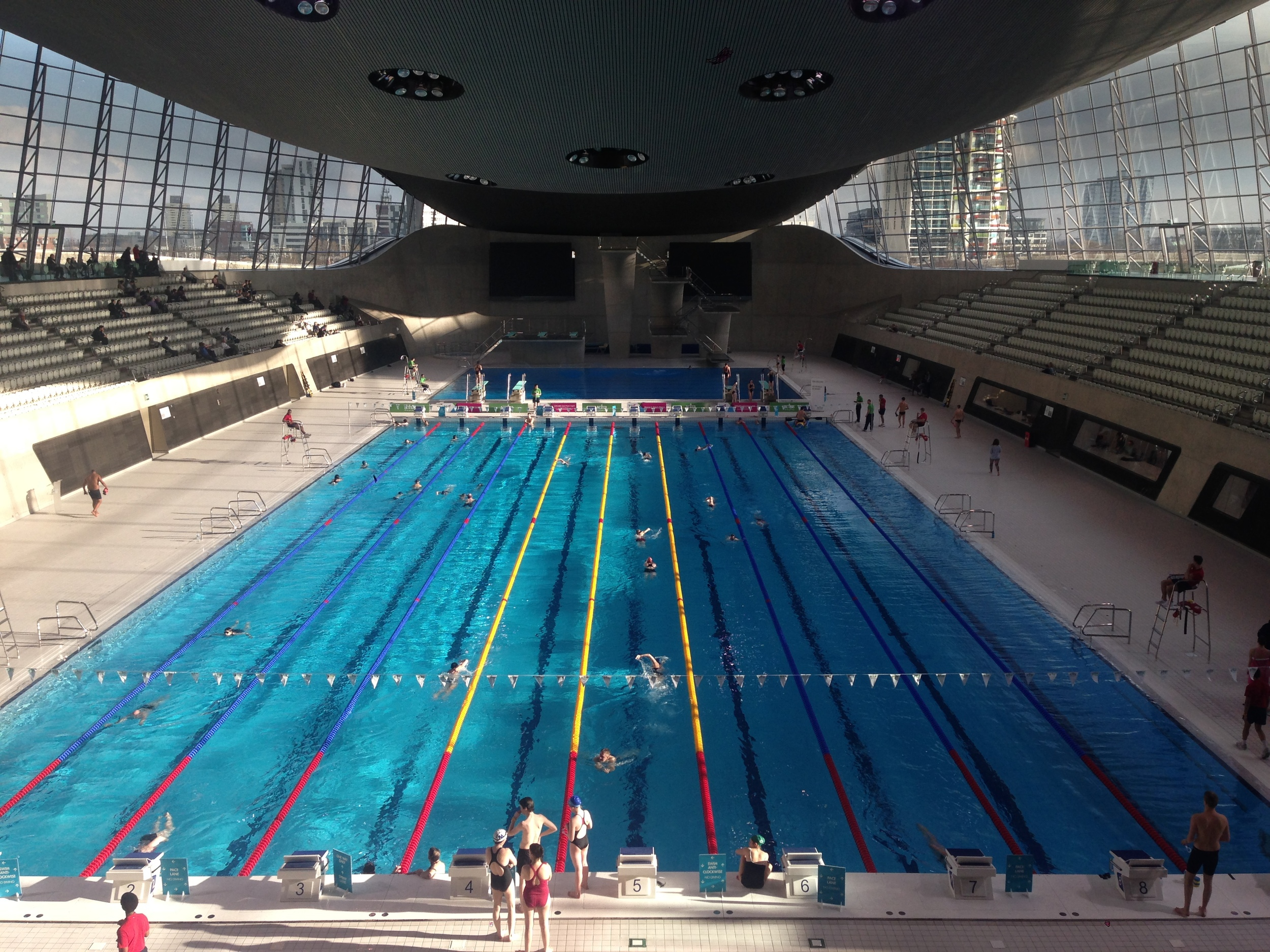 Image courtesy of GLL. Pool now open without the extended seating!