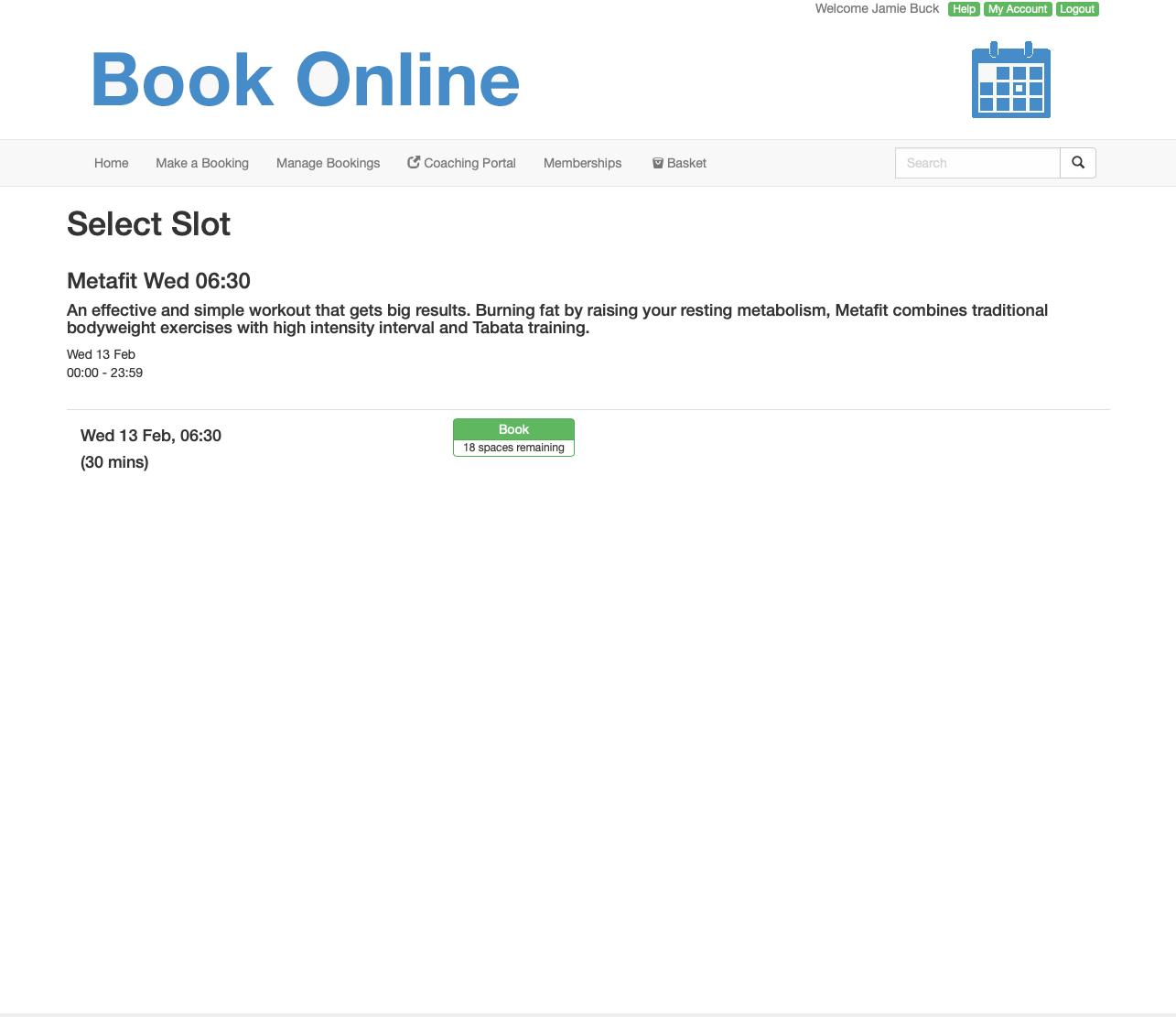Deep Click to Book link