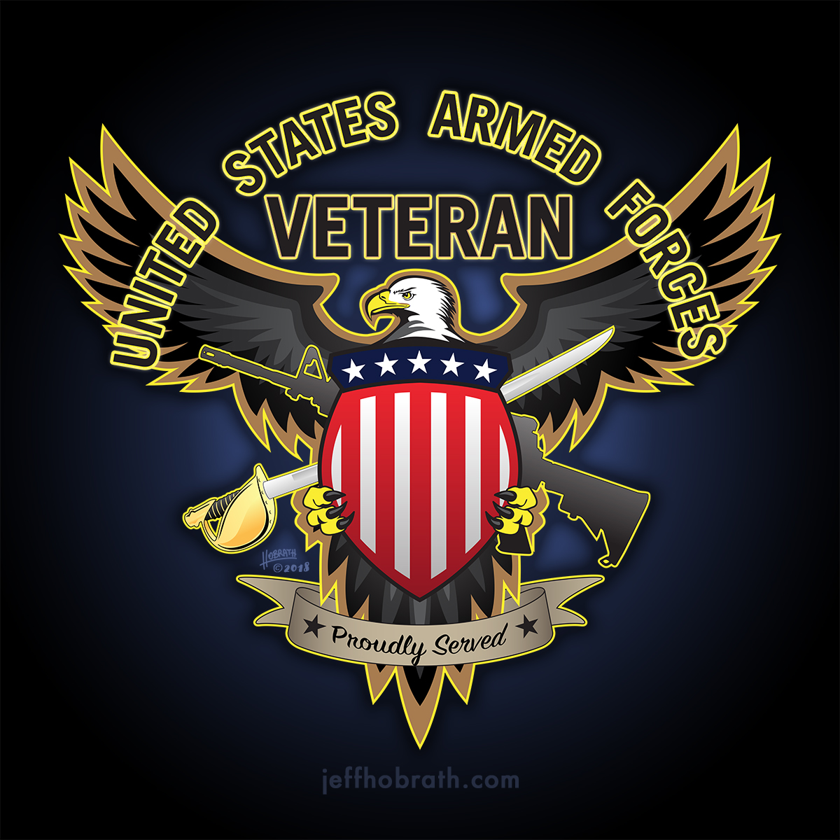 United States Armed Forces Veteran - Proudly Served
