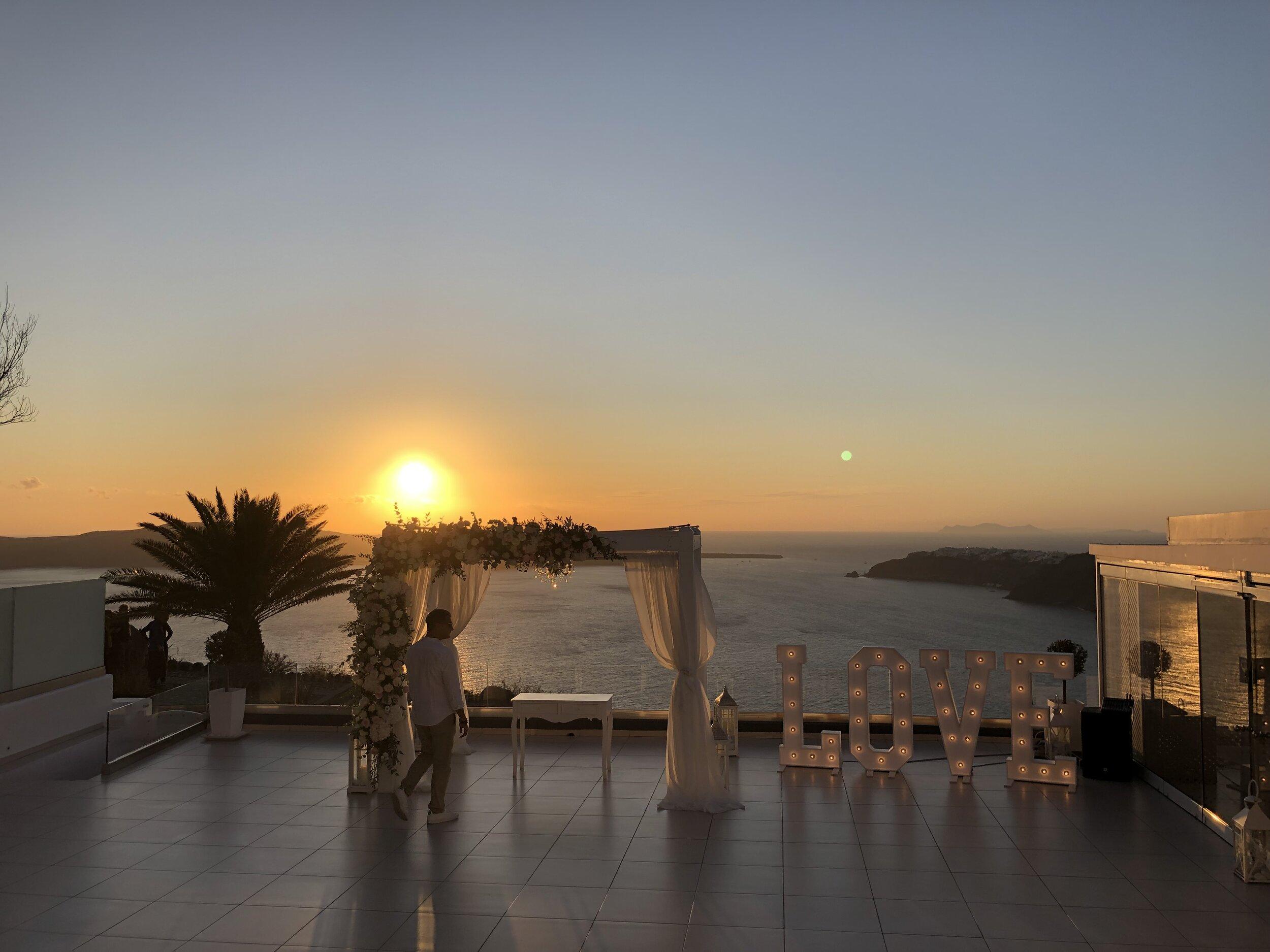 Le Ciel, Santorini. Wedding Venue.