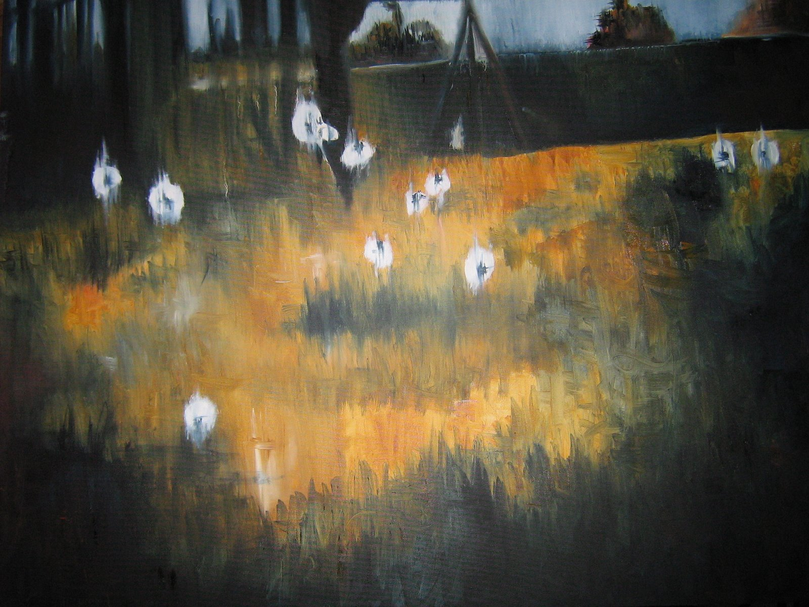 """Tainted Childhood Memory. oil on canvas. 30"""" x 40"""". private collection"""