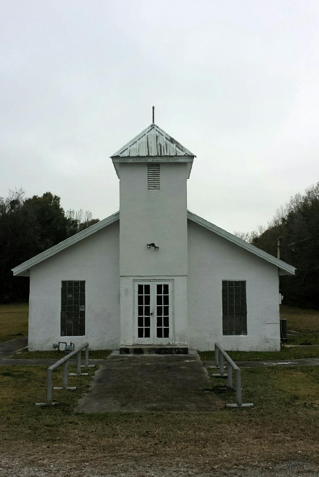 Methodist church, gibson, LA.  Photograph by lisa Qualls.