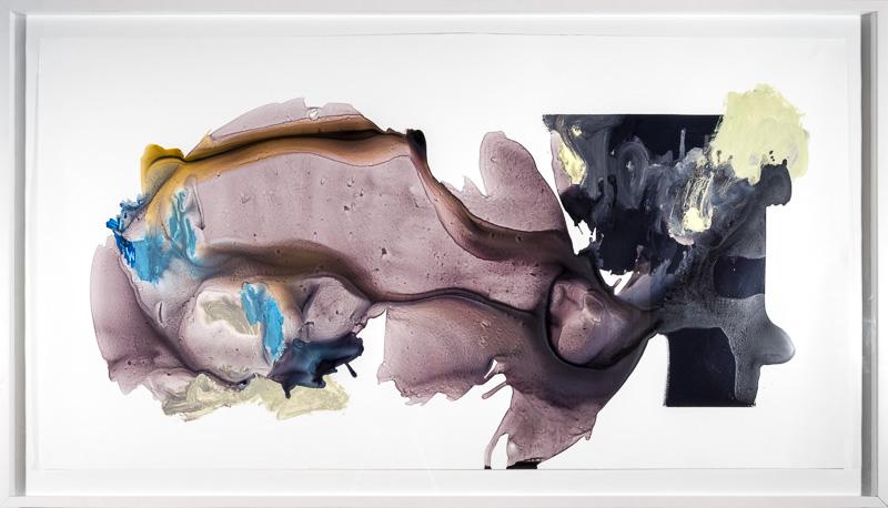 Cornelia White Swann,  untitled (Convergence 1) , 2009. Acrylic, enamel on synthetic paper, 32 x 60.
