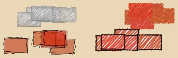 Four preset sketchy styles
