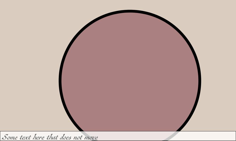 Zoomed circle and untransformed text using  pushMatrix()  and  popMatrix()