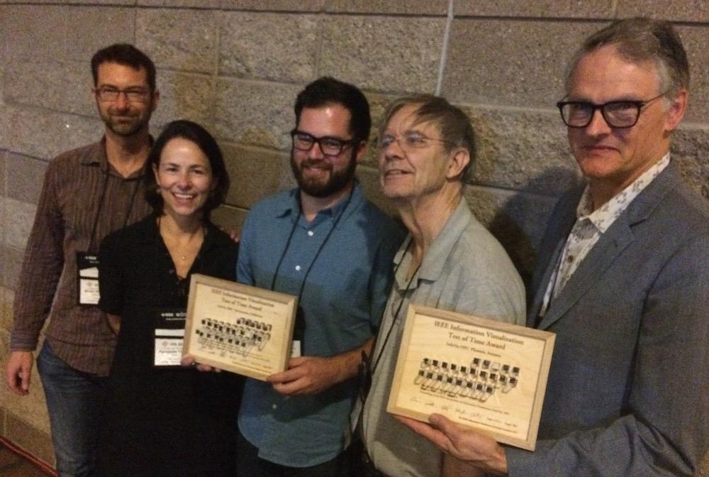 Martin Wattenberg, Fernanda Viegas, Jesse Kriss, Stu Card, Jock Mackinlay    Awards by Yvonne Jansen