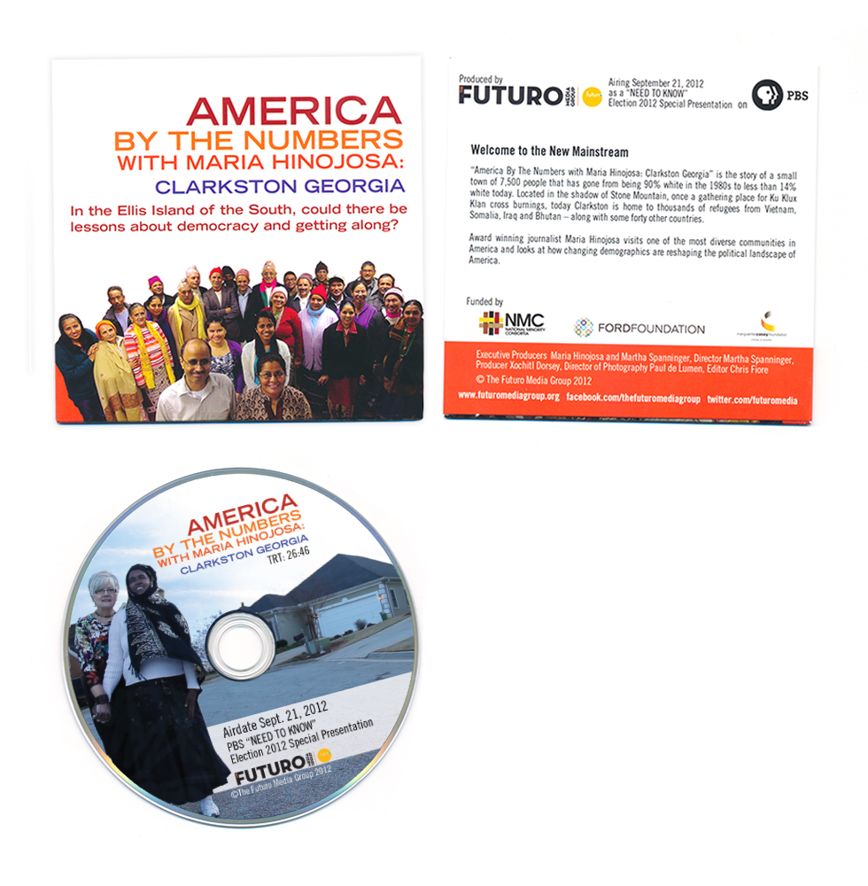 America By The Numbers with Maria Hinojosa DVD design