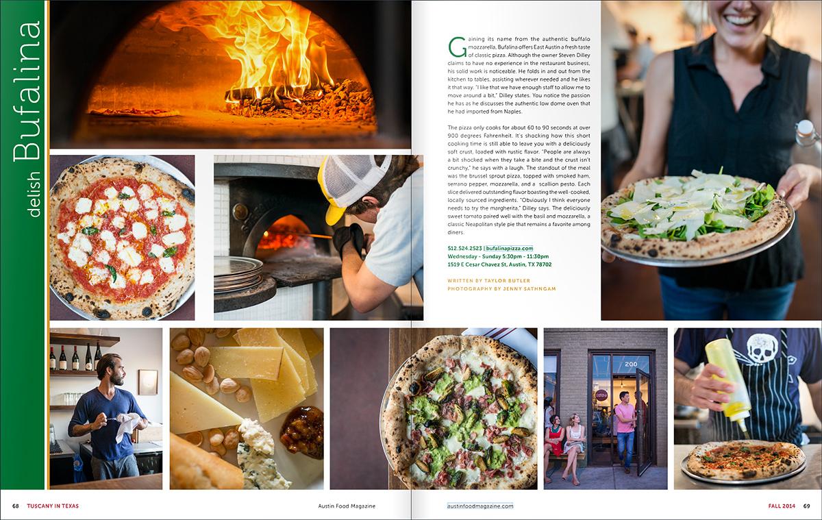 Bufalina for  Austin Food Magazine .
