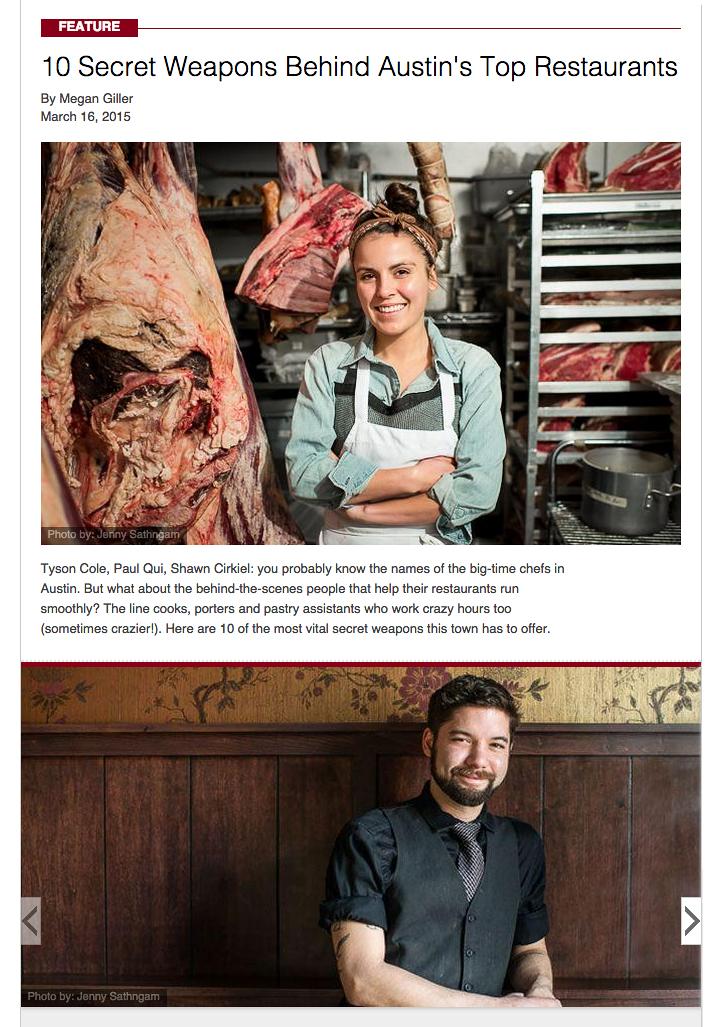Austin Restaurant MVPs for Zagat. More portraits  here .