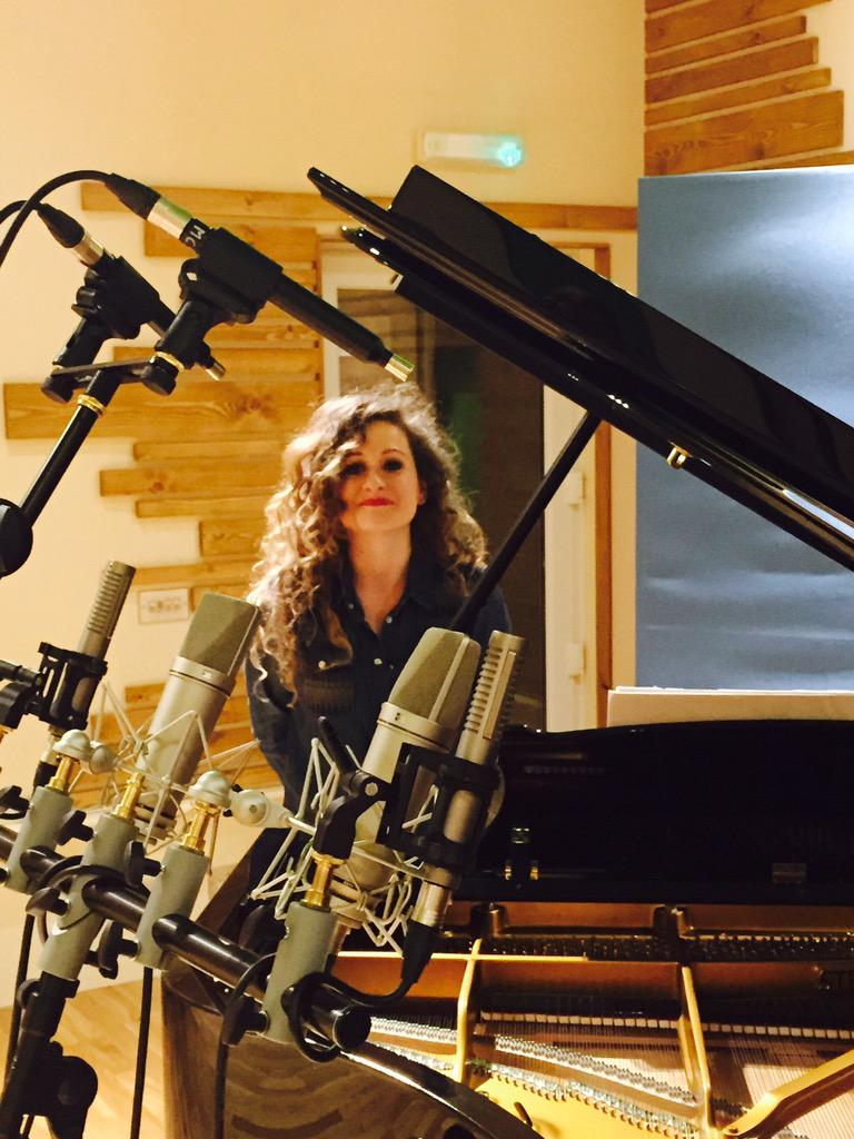 Recording at Masterchord Studios in London.