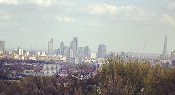 The view from Hampstead Heath.