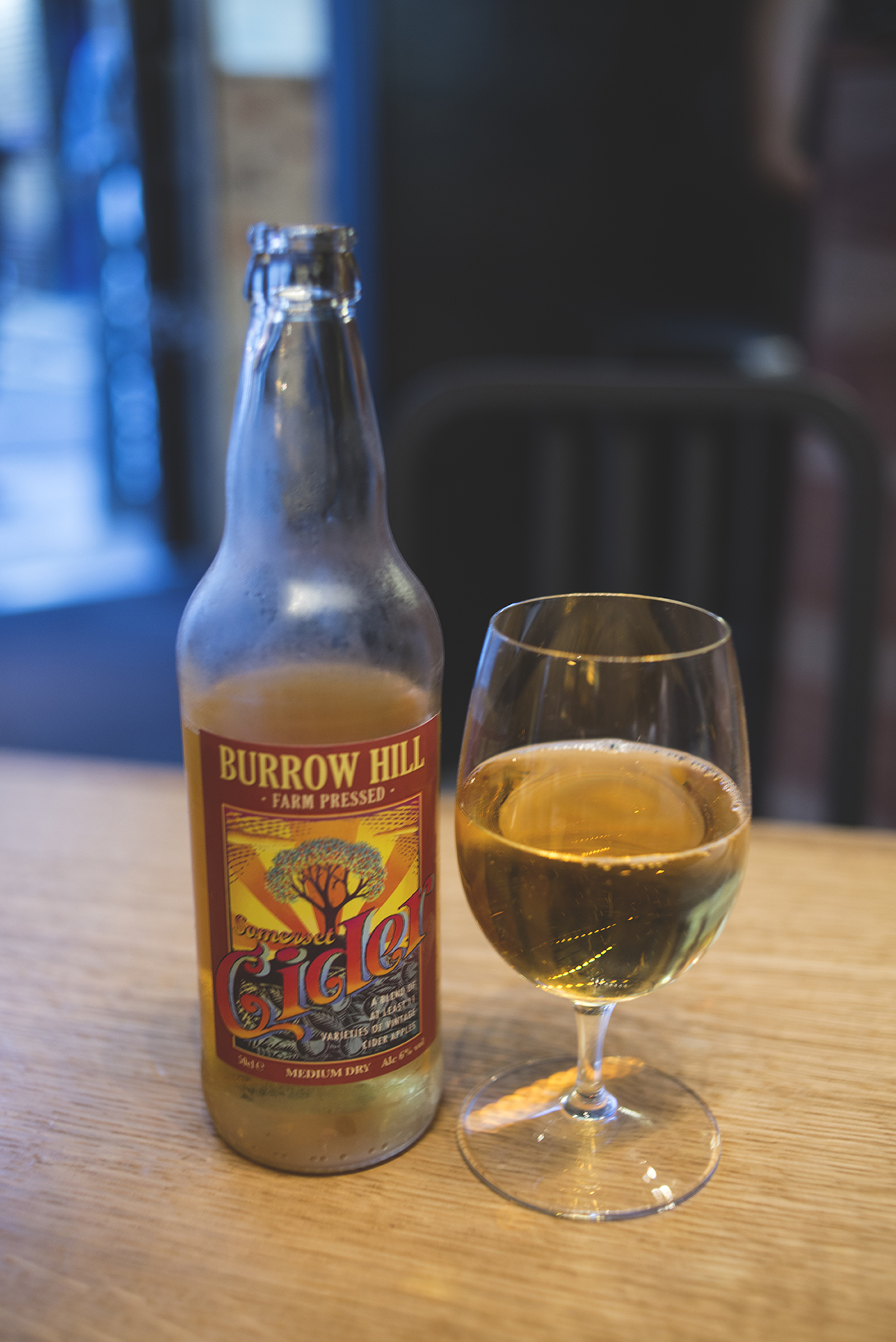 We paired up our roast chicken with seasonal veggies and this Somerset Cider.