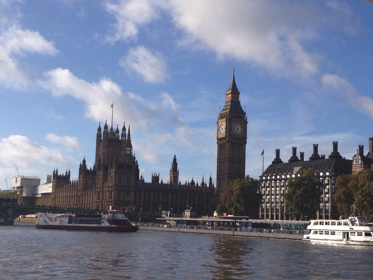 The Parliament and Big Ben view from our boat!