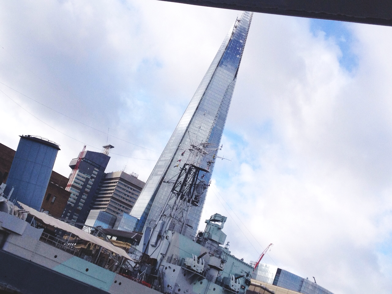 Maybe not the best view of the Shard but it is definitely a monument you can't miss!