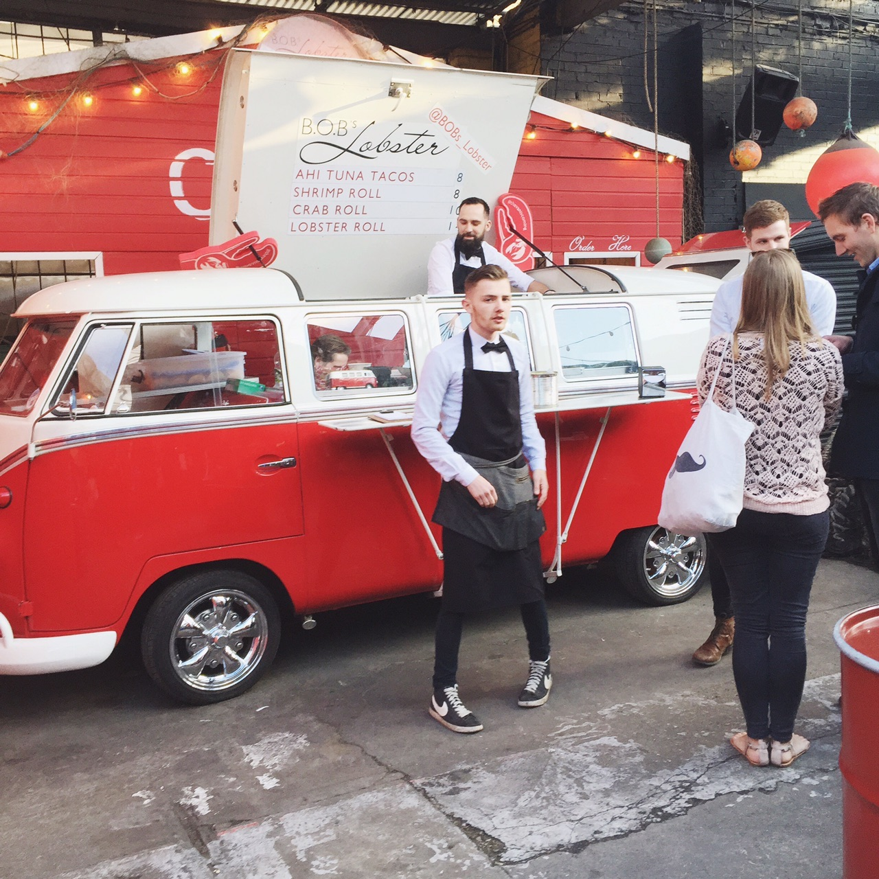 Another cool VW from  Bob's Lobster  if you're craving delicious seafood! #thevaniscoming