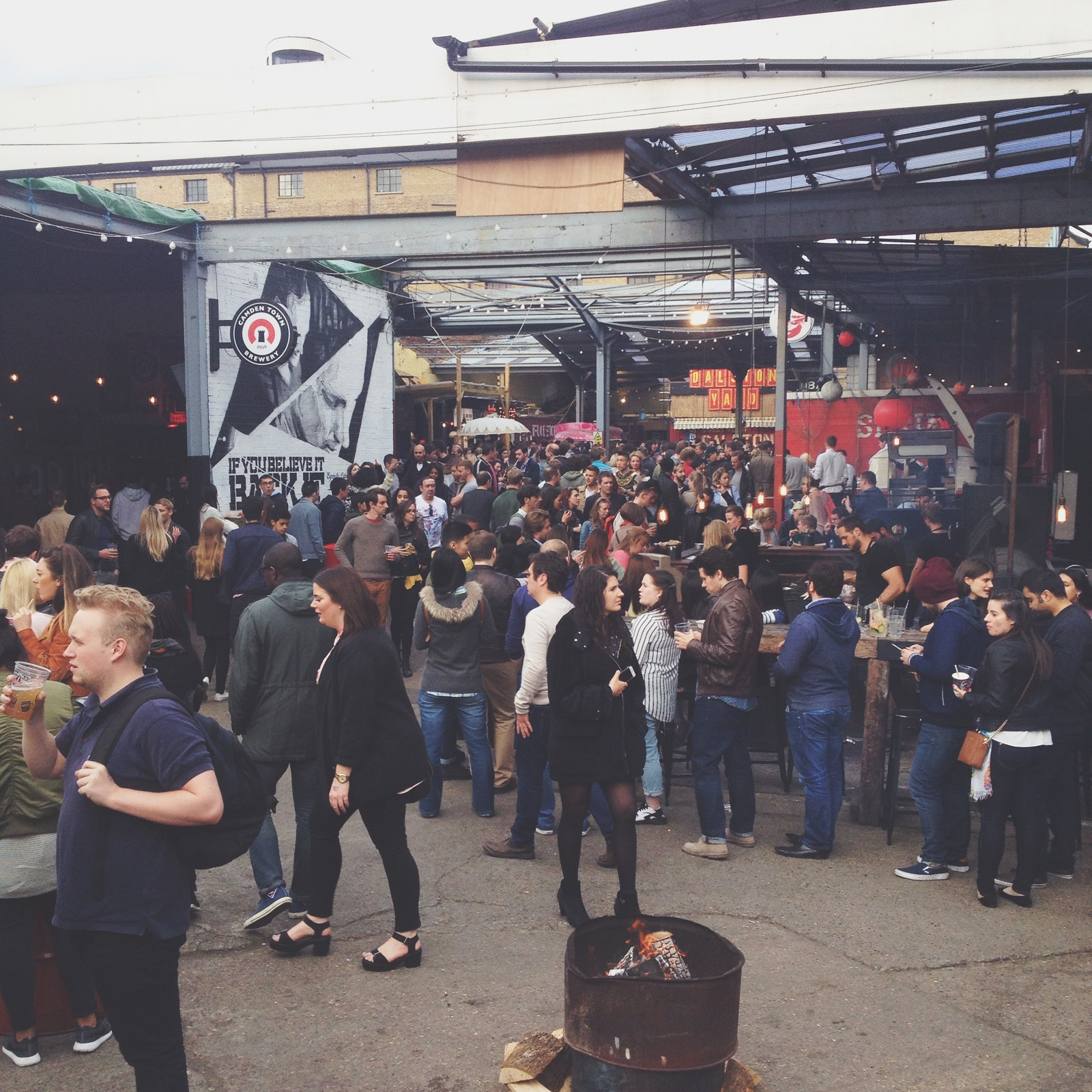 Everyone enjoying the food and drinks Street Feast had in store