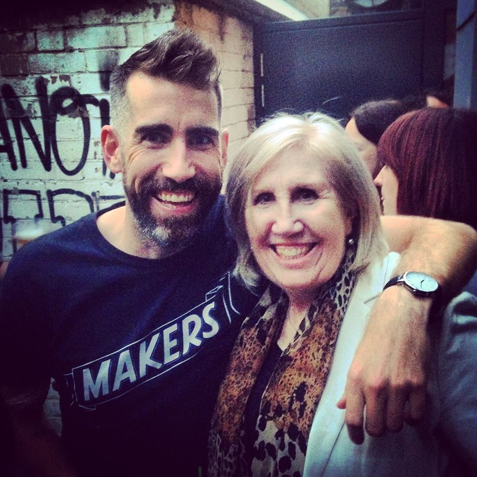 The founder and his mum having fun
