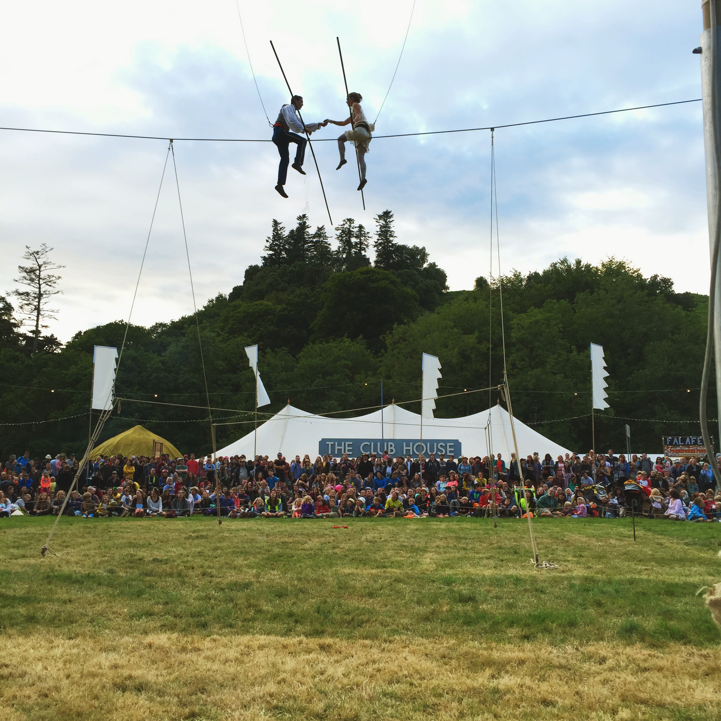 There were also a couple who did some fantastic performances ona tight rope