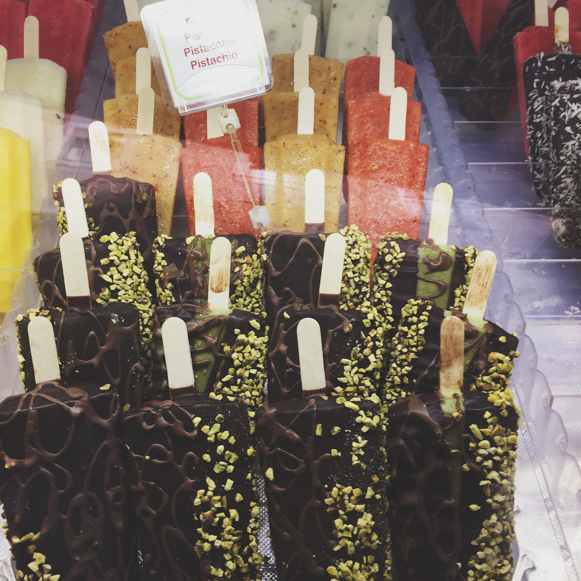 A mixture of gourmet and fruit ice lollies from  Bianco Latte