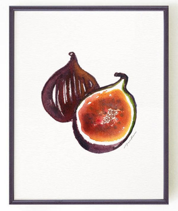 We want this awesome fig  wall print !