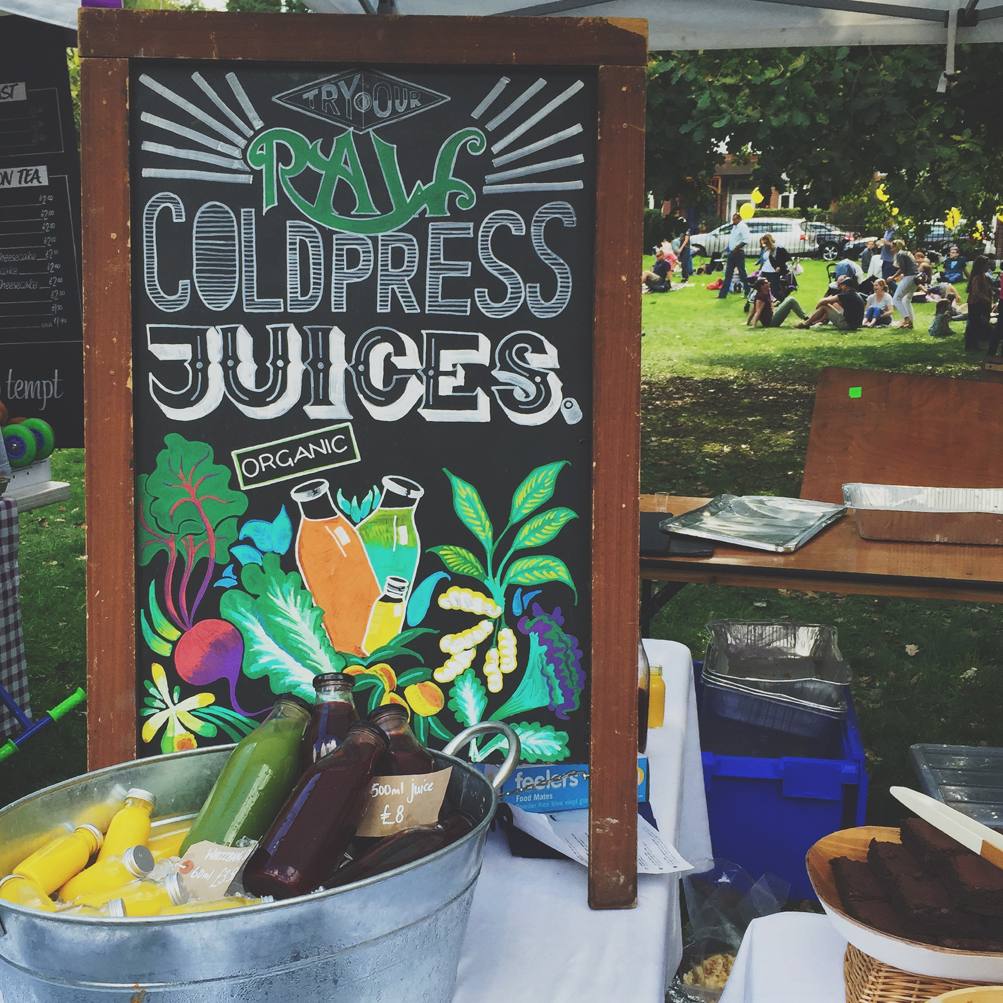 Raw cold press juices- a perfect start to a warm Saturday morning