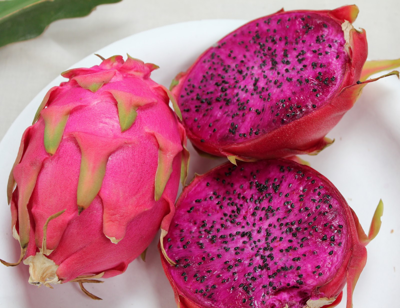 Pink dragon fruit is now readily available in supermarkets all over London such as Sainsbury's, ASDA and Tesco. You can even find them in organic fruit markets.