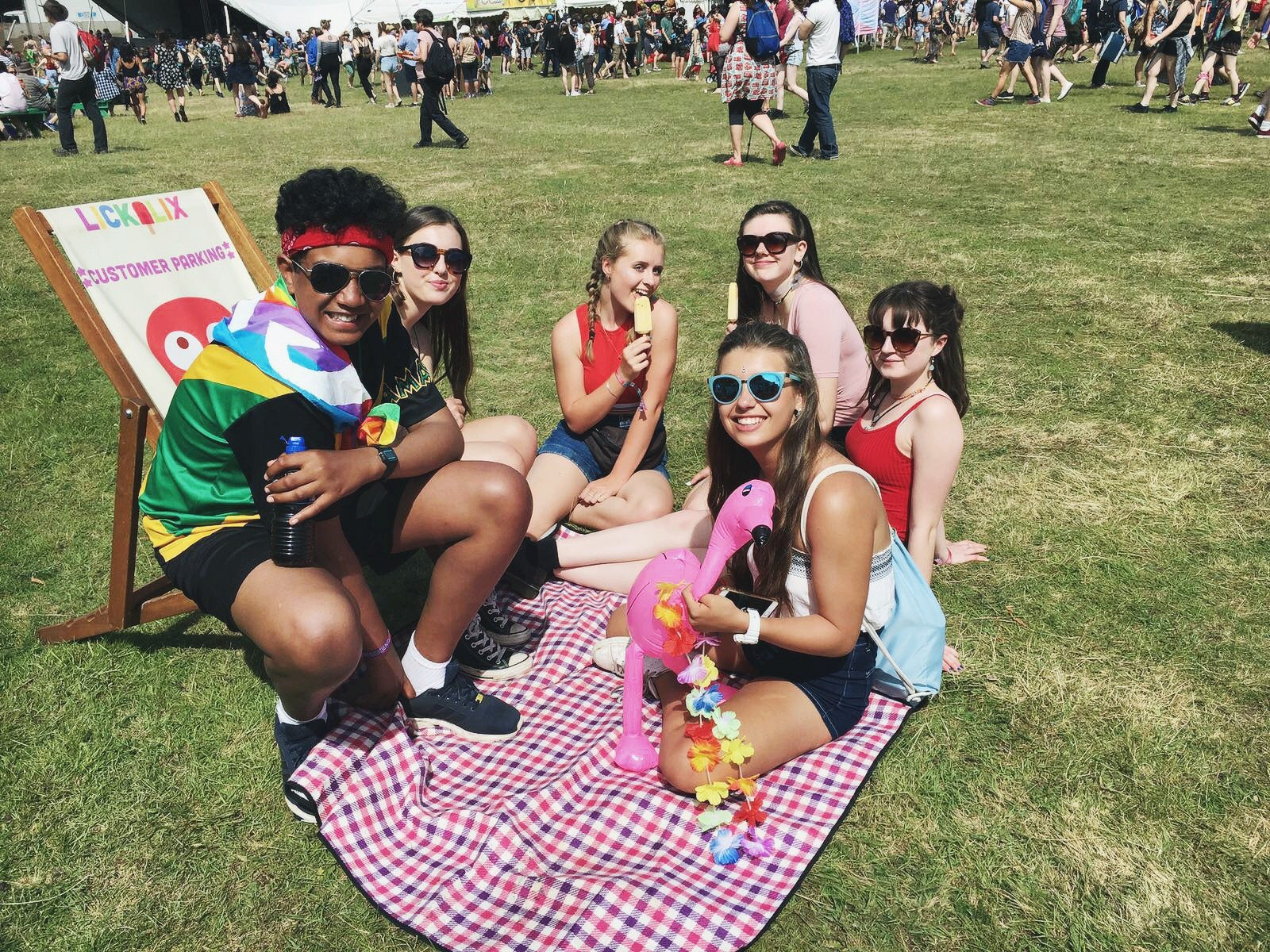 Some happy customers enjoying the warm sunny days at the festival