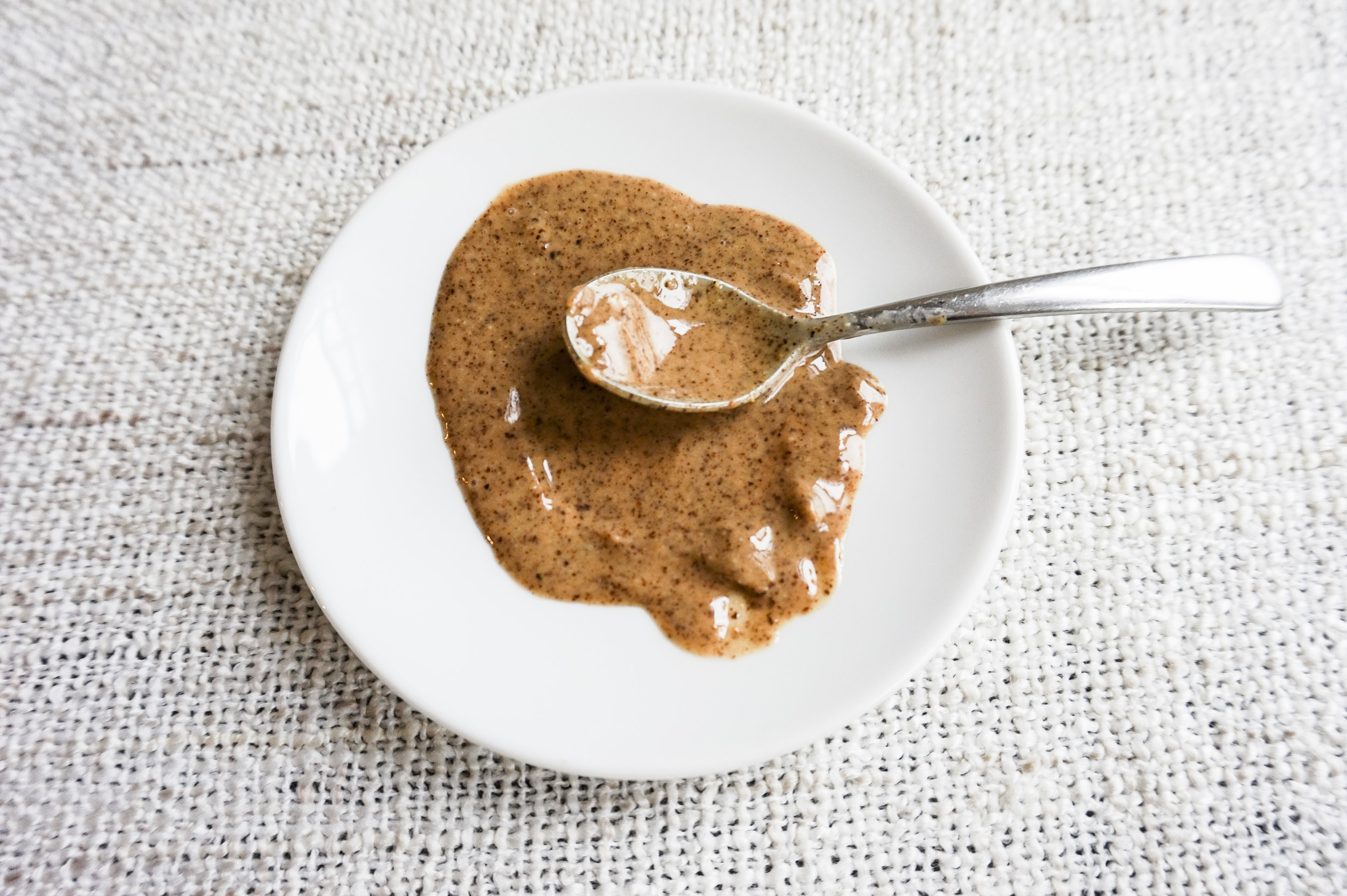 We prefer almond butter over peanut butter! Also you can make your own with a food processor at home.