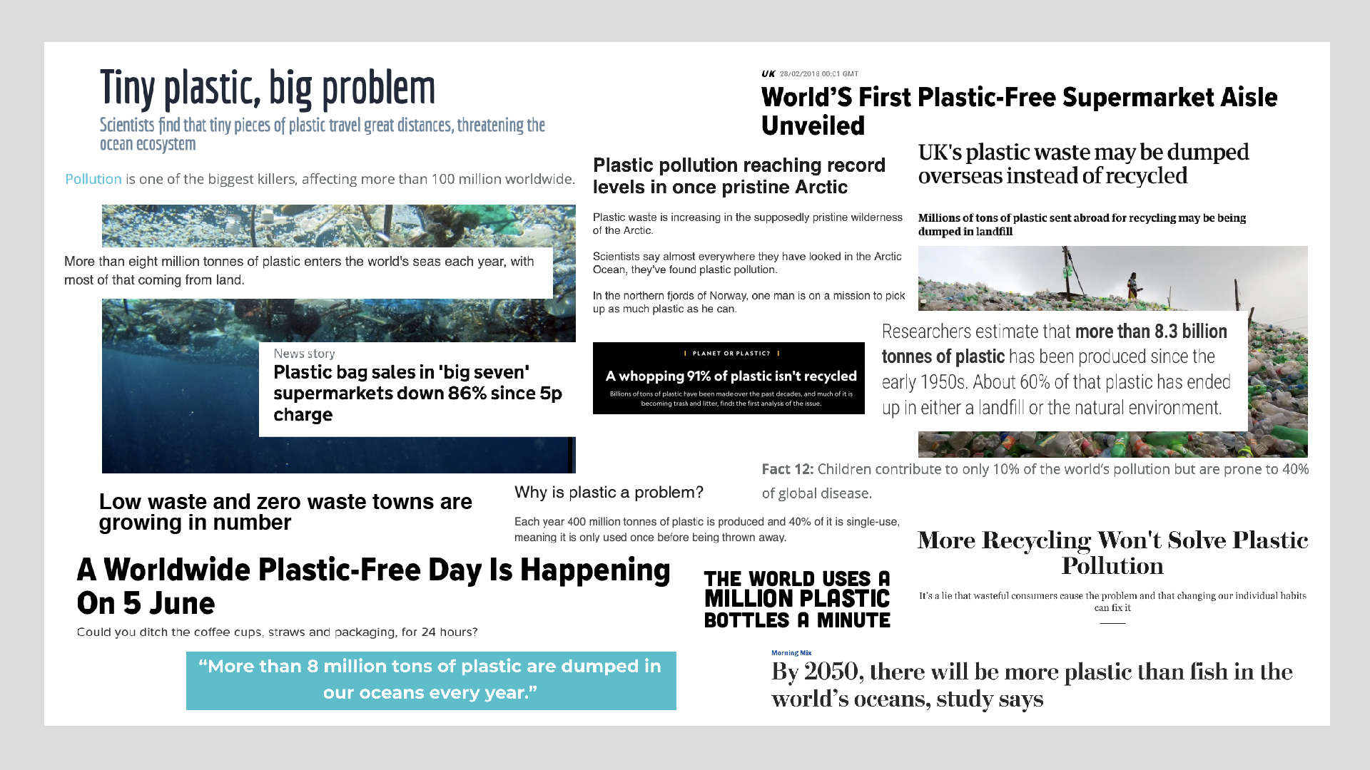 why we switched to plastic free…