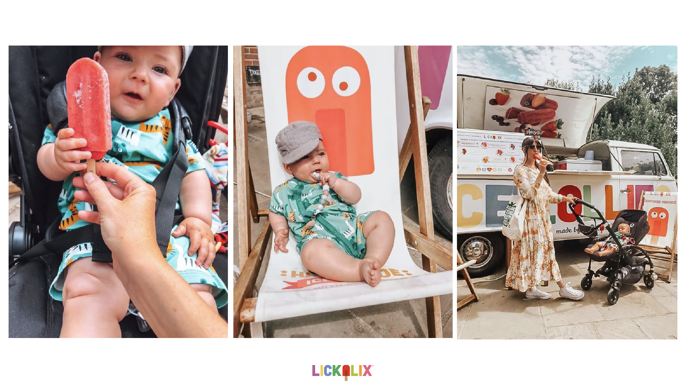 All photos belong to LICKALIX LTD. Photography by  @samanthajbeags . All photos taken at Queens Park Cafe.  We loved meeting Samantha with her little love at Queens Park. She lives locally and is a new mum so she was so excited to give her son his first ice lolly. He was SO cute! Look at his little hands holding the lolly! Thank you for sharing these photos with us!