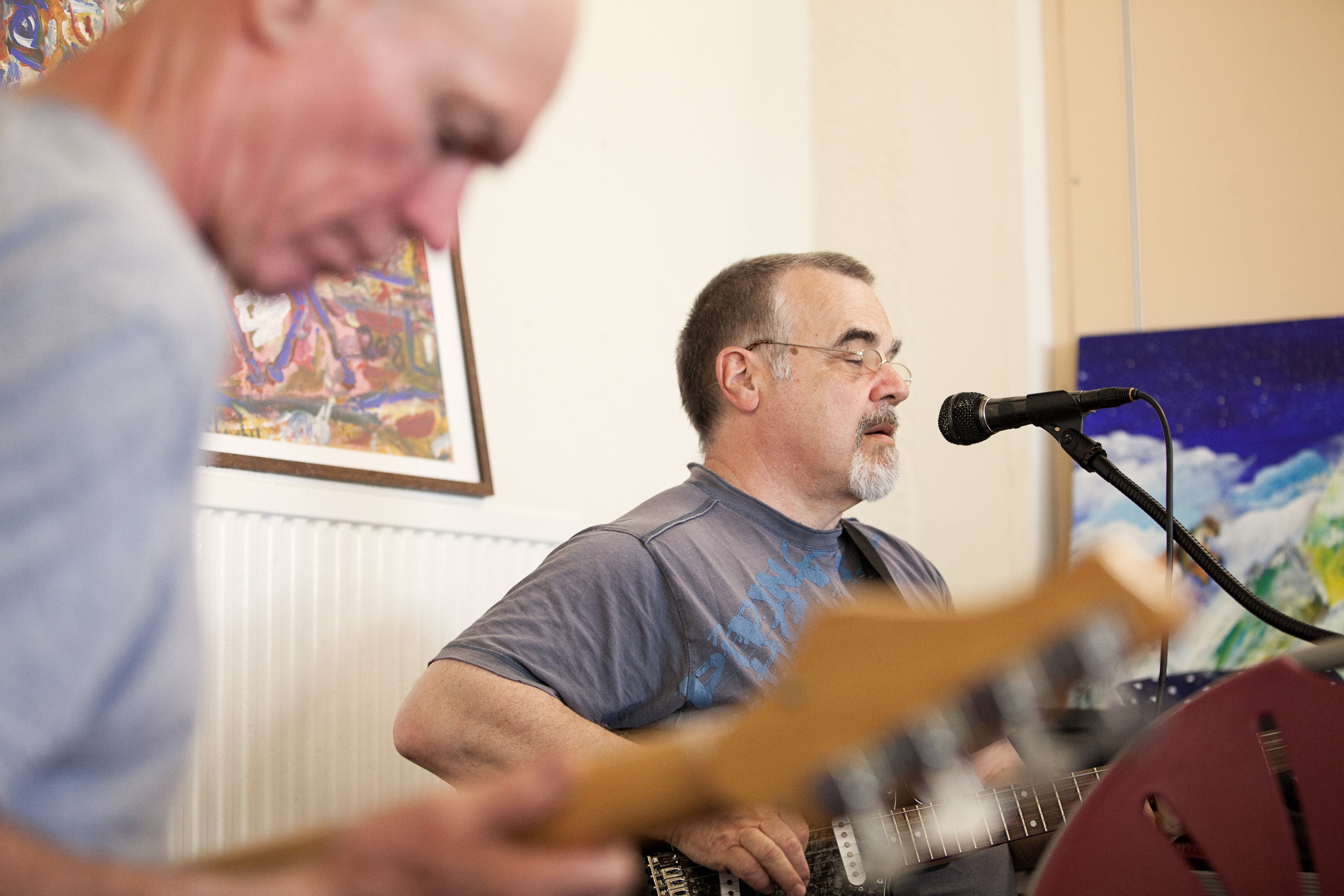 The Music Group - Volunteers and members bring eclectic musical talent to the 240Project centre every week, inspiring the group to release tension and enjoy a festive hour together. Whether playing timeless favourites or member-composed melodies, it's always a good time.
