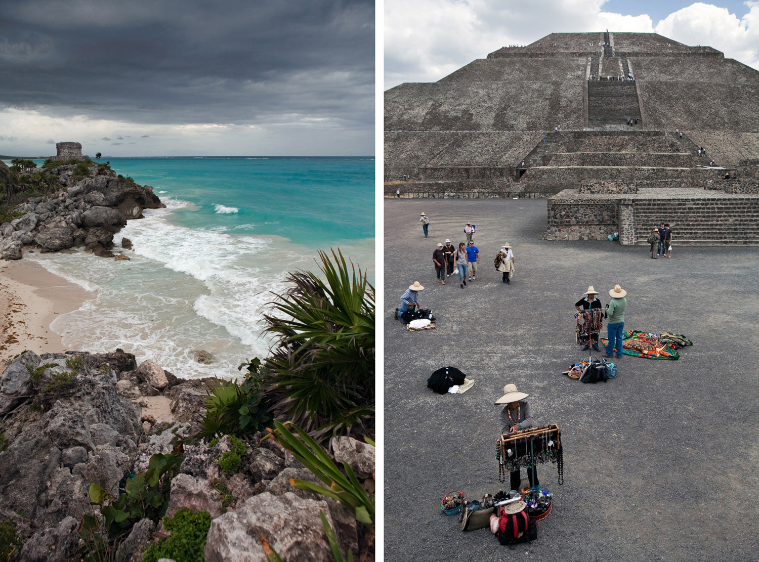 Tulum, Mexico - Teotihuacan, Mexico