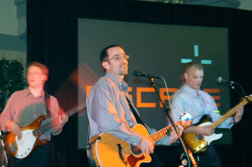 Performing for one of our corporate clients.