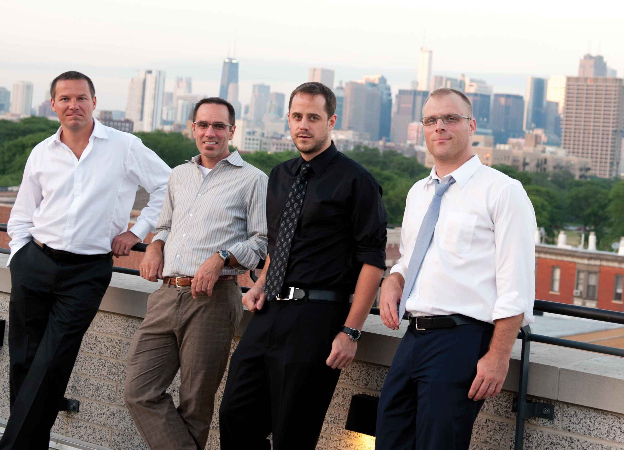 Post wedding with the boys from the band in the 'big city'. Photo courtesy of Darcy Demmel photography.