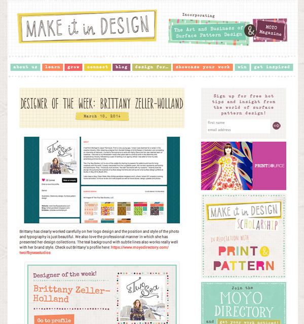 Make it in Design / Moyo Designer of the Week