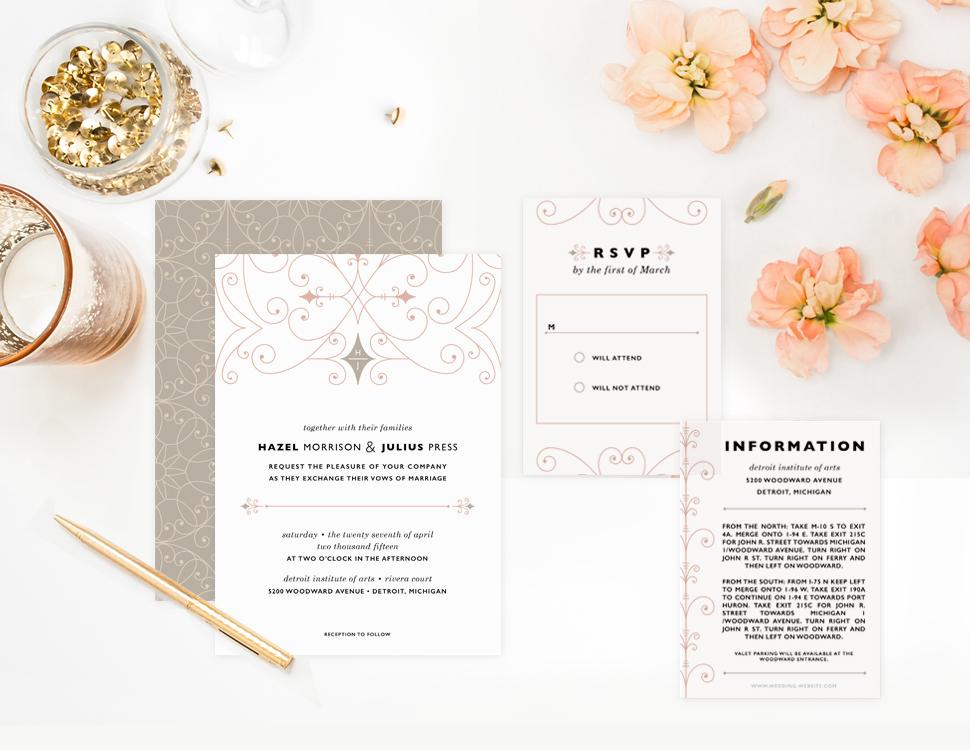 Modern Fairytale Wedding Invitation : Elli.com