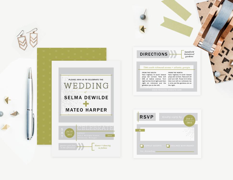 Urban Arrows Wedding Invitation : Elli.com